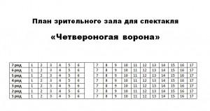 План зрительного зала для спектакля «Четвероногая ворона»